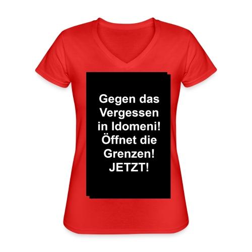 Gegen das Vergessen - Klassisches Frauen-T-Shirt mit V-Ausschnitt