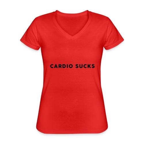 Cardio Sucks - Klassisches Frauen-T-Shirt mit V-Ausschnitt
