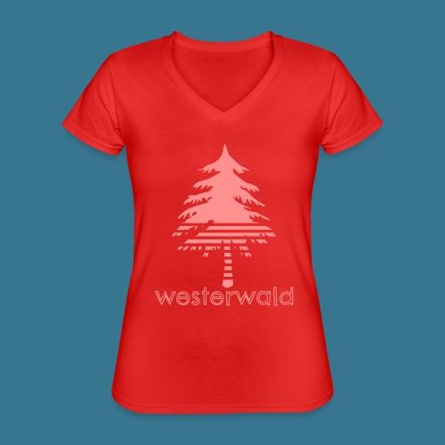 Bunt, Hip, Bodenständig- Westerwald kann! - Klassisches Frauen-T-Shirt mit V-Ausschnitt