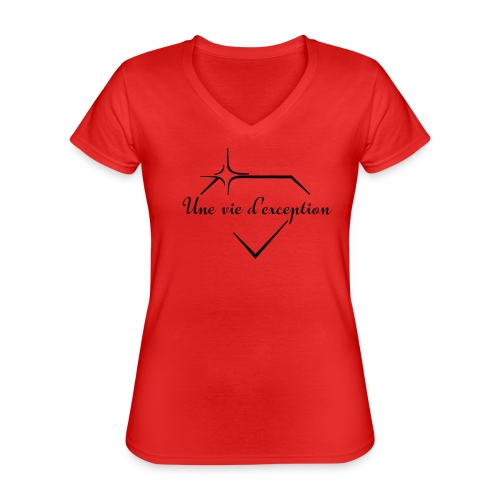 Femmes d'exceptions - T-shirt classique col V Femme