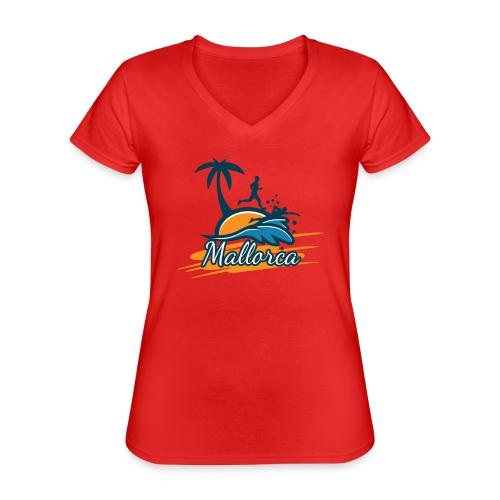 Joggen auf Mallorca - Sport - sportlich - Jogging - Klassisches Frauen-T-Shirt mit V-Ausschnitt
