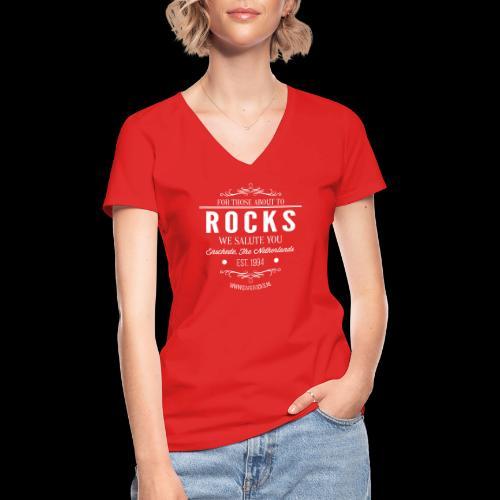 Vintage Rocks Label - Klassiek vrouwen T-shirt met V-hals