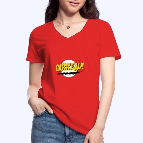Carreau! - Klassiek vrouwen T-shirt met V-hals