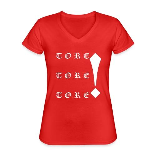 Tore! Tore! Tore! - Klassisches Frauen-T-Shirt mit V-Ausschnitt