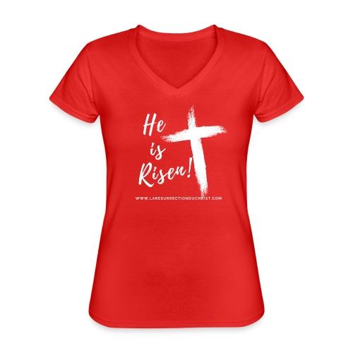 He is Risen ! V2 (Il est ressuscité !) - T-shirt classique col V Femme