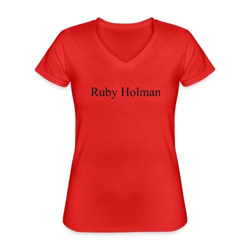 Ruby Holman - T-shirt classique col V Femme