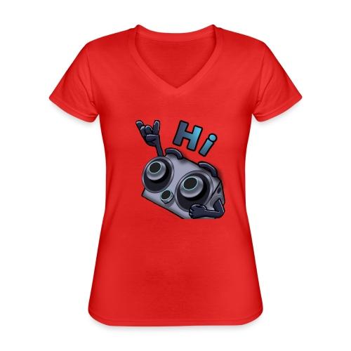 The DTS51 emote1 - Klassiek vrouwen T-shirt met V-hals