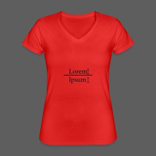 LoremIpsum - Klassisches Frauen-T-Shirt mit V-Ausschnitt