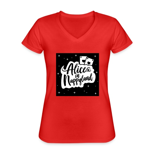 Alice in Nappyland 1 - Classic Women's V-Neck T-Shirt