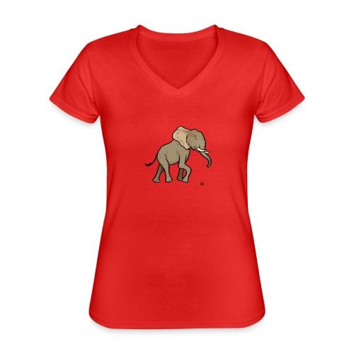 African Elephant - Klassisches Frauen-T-Shirt mit V-Ausschnitt