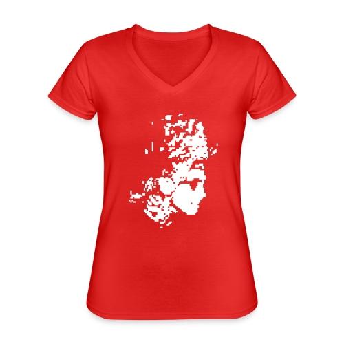 henkbolt - Klassisches Frauen-T-Shirt mit V-Ausschnitt