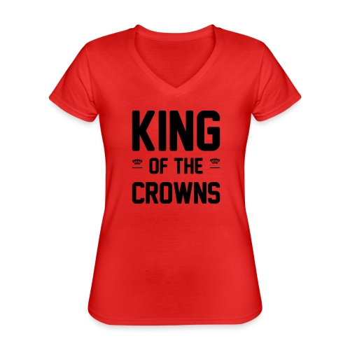 King of the crowns - Klassiek vrouwen T-shirt met V-hals