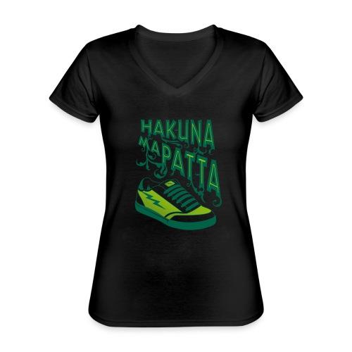 Hakuna maPatta - Klassiek vrouwen T-shirt met V-hals