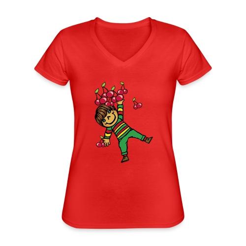 08 kinder kapuzenpullover hinten - Klassisches Frauen-T-Shirt mit V-Ausschnitt