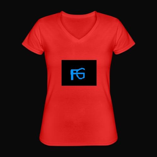 fastgamers - Klassiek vrouwen T-shirt met V-hals