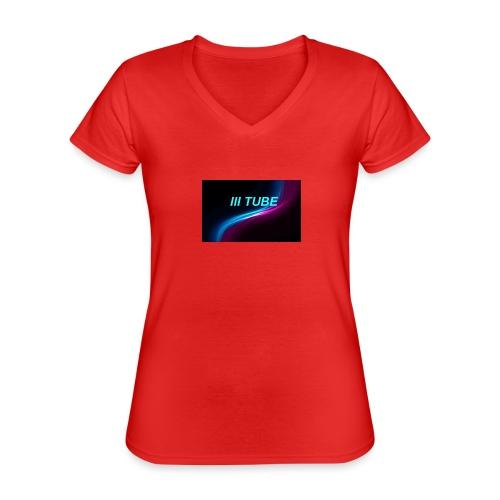 logo - Klassiek vrouwen T-shirt met V-hals