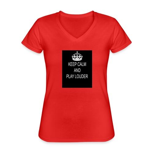 keep calm play loud - T-shirt classique col V Femme