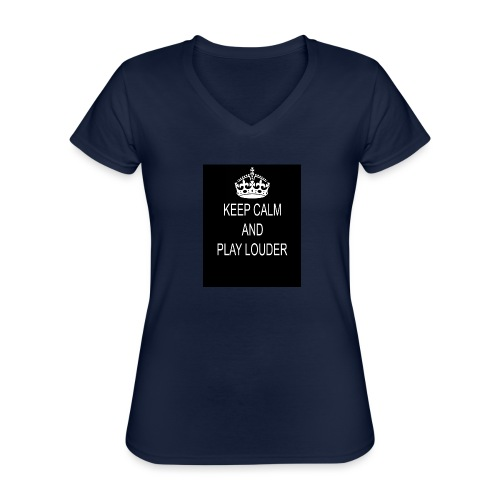 keep calm play loud - T-shirt classique col V Femme