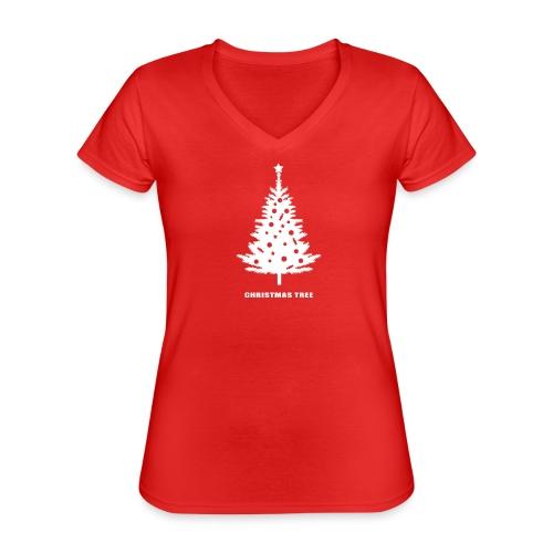 christmas tree, christmas, new year, rockefeller - Classic Women's V-Neck T-Shirt