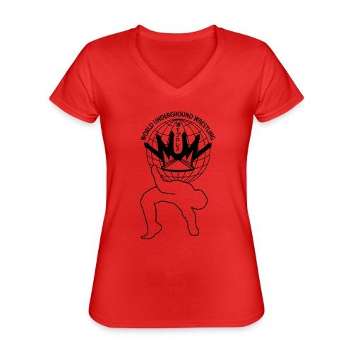 wuw suplex logo - Klassisches Frauen-T-Shirt mit V-Ausschnitt