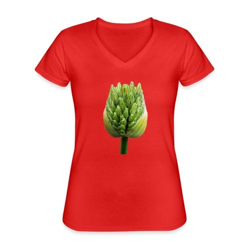 TIAN GREEN Garten - Lauchblütenknospe 2020 01 - Klassisches Frauen-T-Shirt mit V-Ausschnitt