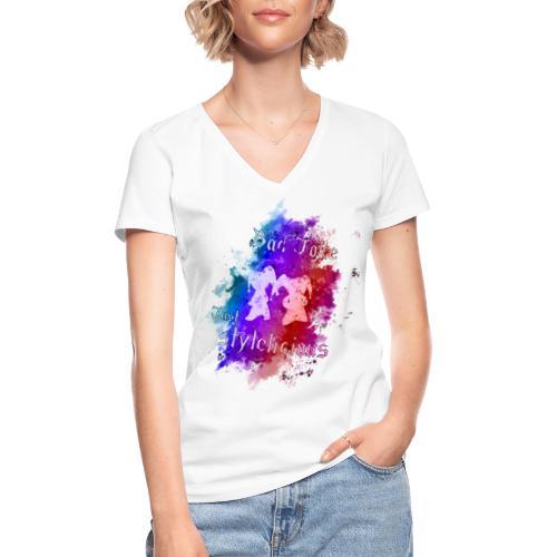 BadJoke just stylelicious - Klassisches Frauen-T-Shirt mit V-Ausschnitt