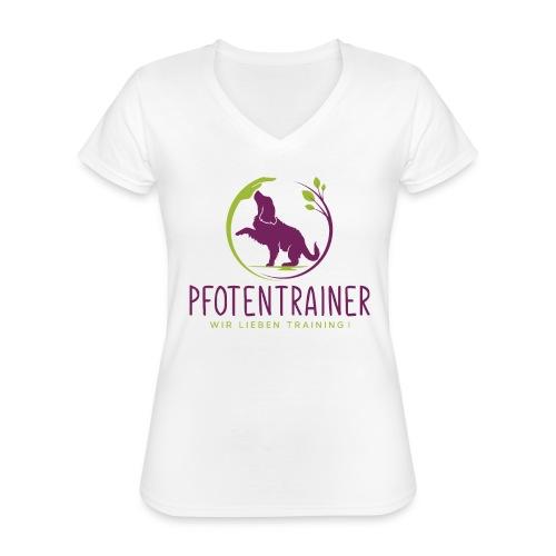 Pfotentrainer_groß - Klassisches Frauen-T-Shirt mit V-Ausschnitt