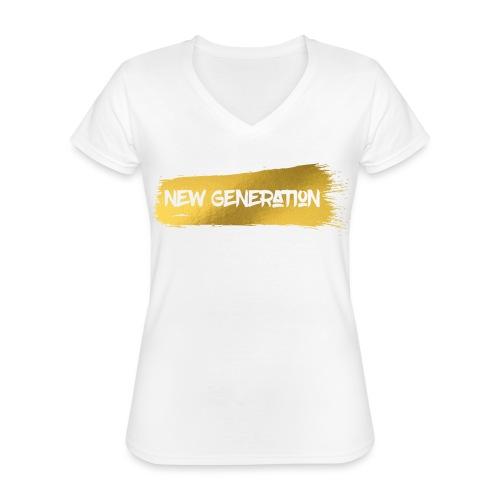 New Generation - Klassiek vrouwen T-shirt met V-hals