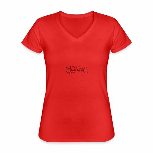 Nice Life - Maglietta da donna classica con scollo a V
