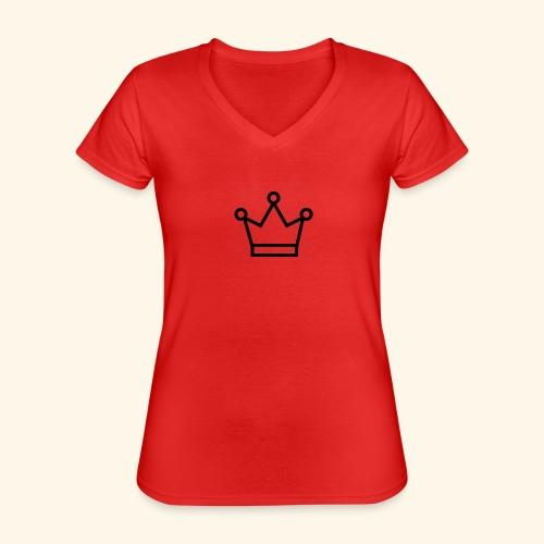 The Queen - Klassisk dame T-shirt med V-udskæring