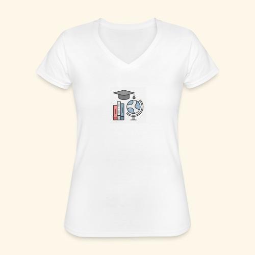 teacher knowledge learning University education pr - Klassisk dame T-shirt med V-udskæring