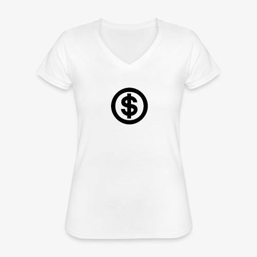 marcusksoak - Klassisk dame T-shirt med V-udskæring