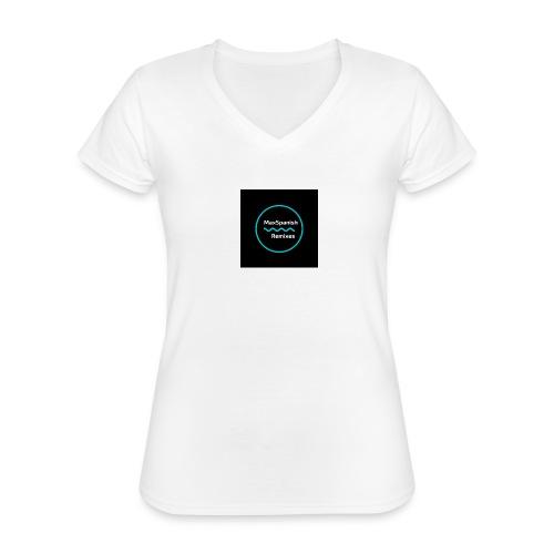 MaxSpanish - Klassiek vrouwen T-shirt met V-hals