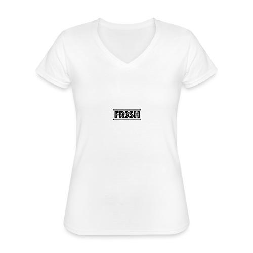 Fr3sh - Klassiek vrouwen T-shirt met V-hals