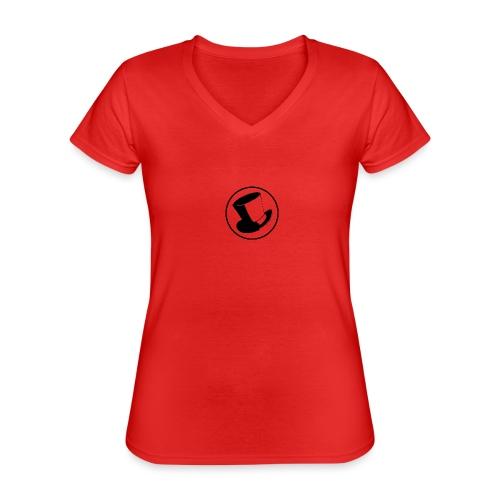 GLASS HAT - Camiseta clásica con cuello de pico para mujer