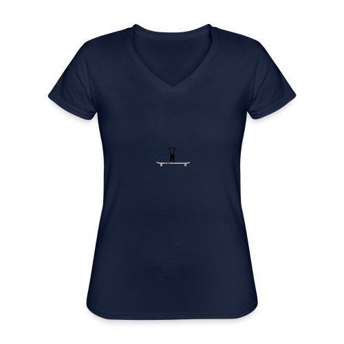 SkateMan (MatteFShop Original) - Maglietta da donna classica con scollo a V