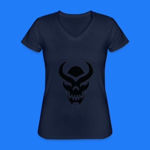 TRIBAL SKULL NOIR - T-shirt classique col V Femme