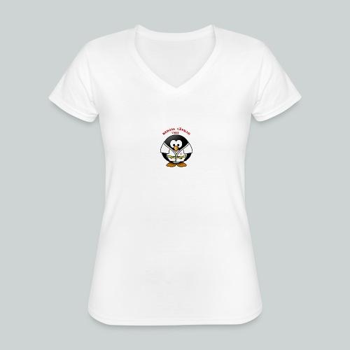 VisbyPenguins - Klassisk T-shirt med V-ringning dam