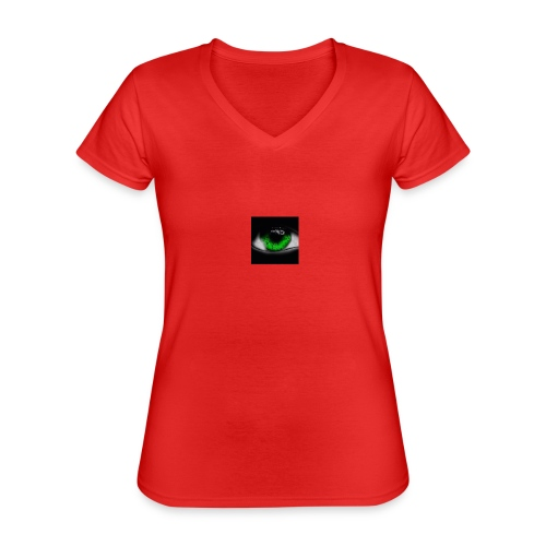 Green eye - Classic Women's V-Neck T-Shirt