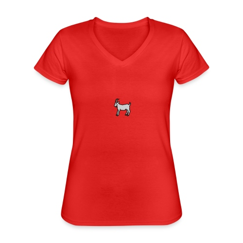 Ged T-shirt dame - Klassisk dame T-shirt med V-udskæring