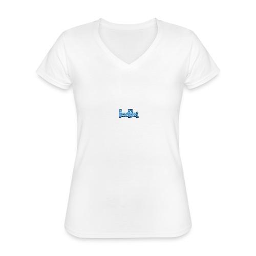 THE ICE SHIRT - Klassisk dame T-shirt med V-udskæring