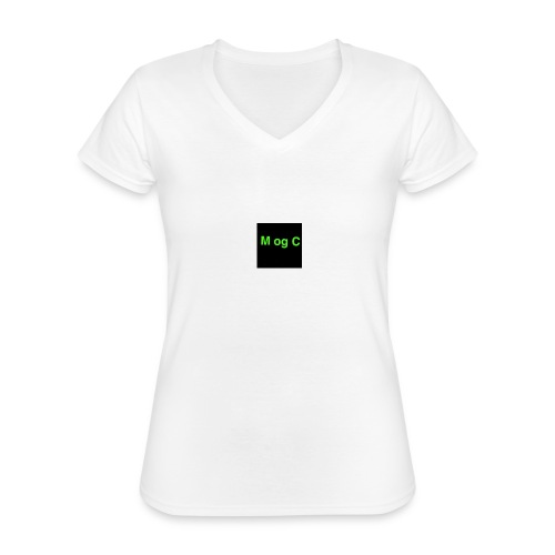 mogc - Klassisk dame T-shirt med V-udskæring