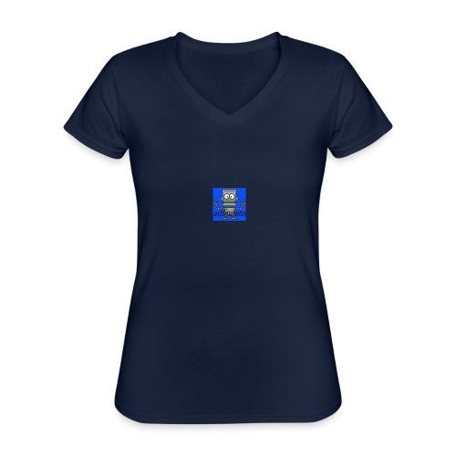 addminator - Klassisk T-shirt med V-ringning dam