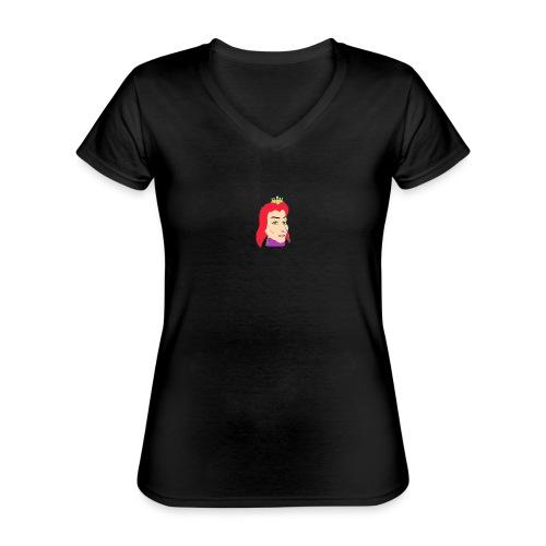 queen - Camiseta clásica con cuello de pico para mujer