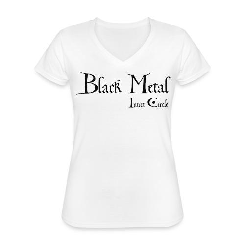 black metal Inner Circle, black ink - Classic Women's V-Neck T-Shirt