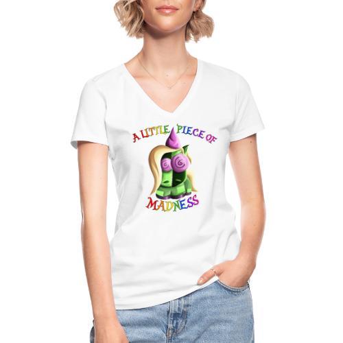 Ernst, das monotone Zweihorn - Klassisches Frauen-T-Shirt mit V-Ausschnitt