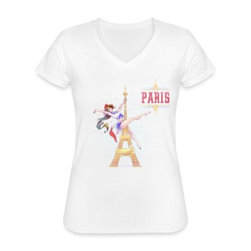 Pole Dance Paris Marianne - Classic Women's V-Neck T-Shirt