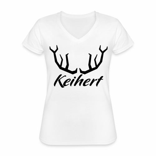 Keihert gaan - Klassiek vrouwen T-shirt met V-hals