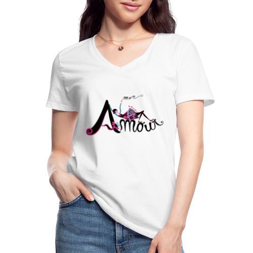 Love Mon Amour - Maglietta da donna classica con scollo a V