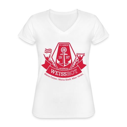 Meine Farben. Meine Stadt. Mein Verein. - Klassisches Frauen-T-Shirt mit V-Ausschnitt